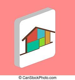 petite maison, maison, symbole, informatique