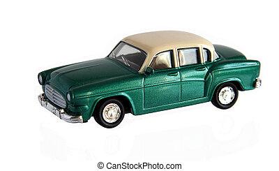 petite voiture, jouet, vert