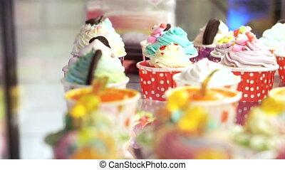 petits gâteaux, coloré, variété