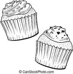 petits gâteaux, croquis