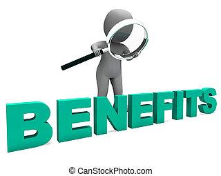 petits profits, ou, caractère, récompenses, avantages, faveurs, moyens