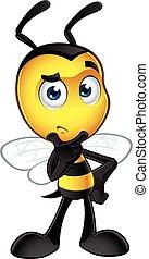 peu, abeille, caractère