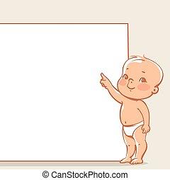 peu, bannière, bébé