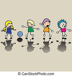 peu, enfants, heureux