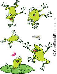 peu, grenouilles