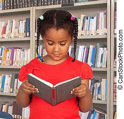 peu, livre, lecture, étudiant