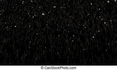 peu, or, dieu, étoile, goutte, pluie, doré