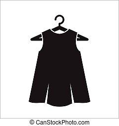 peu, robe, cintre, noir