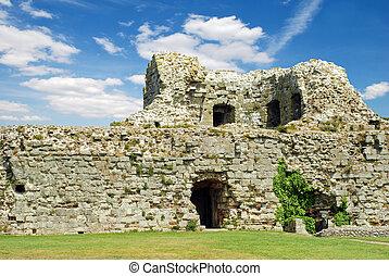 pevensey, château, ruines