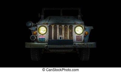 phares, vendange, camion