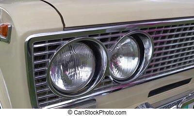 phares, voiture, retro