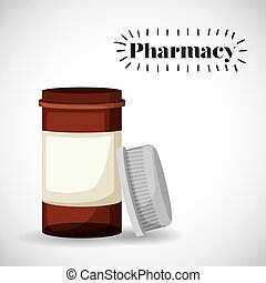 pharmacie, magasin, conception