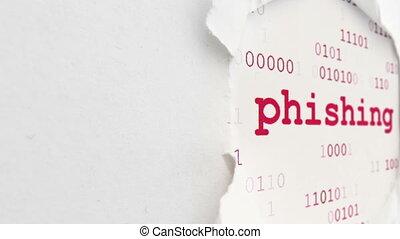 phishing, concept, ligne