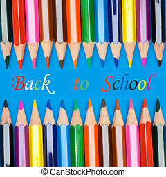 photo, école, concept, retourner