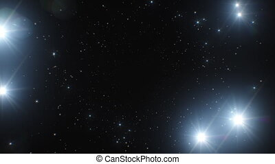 photo, 3d, space., scintiller, eclats, mouvement, jeûne, seamless, points, hd, fait boucle, fond, tunnel., clair, 4k, résumé, animation, éclats (flares), vidéo, ultra, 3840x2160., black.