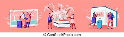 photo, images, voyager, énorme, recours, regarder, vacances, album, exotique, caractères, plage, vues, européen, minuscule, été