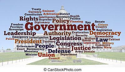 photo, mot, nuage, gouvernement