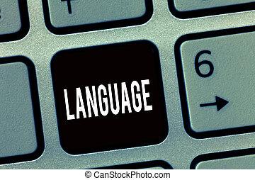photo, parlé, huanalysis, projection, language., signe, méthode, texte écrit, non plus, mots, communication, conceptuel, consister