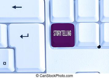 photo, social, gestes, storytelling., business, culturel, showcasing, note, théâtral, écriture, papier, arrière-plan., activité, au-dessus, projection, blanc, clavier, pc