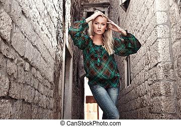 photo, style, mode, jeune fille