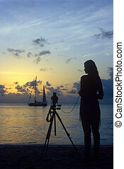 photographe, plage