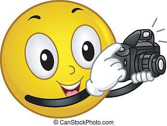photographe, smiley