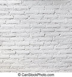 photographie, carrée, mur, texture, fond, brique blanche