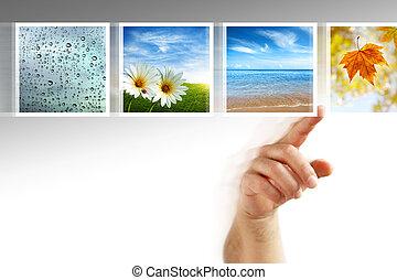 photos, touchscreen