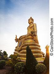 phuket ile, grand bouddha, statue, thaïlande, marbre