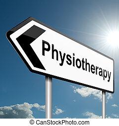 physiothérapie, concept.