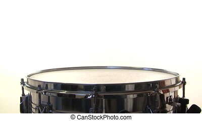 piège, blanc, tambour, rouleau, fond