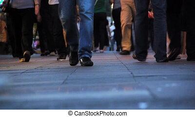 piétons, marche, trottoir