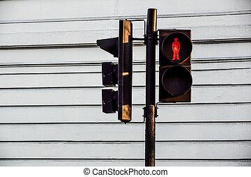piétons, trafic, feu rouge