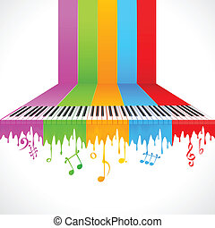 piano, coloré