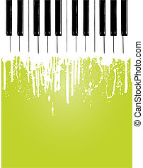 piano, couler