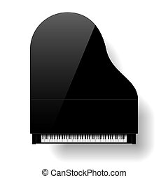 piano, grandiose, sommet noir, vue