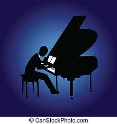 piano, nuit
