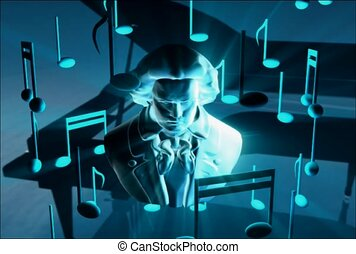 piano, son, compositeur