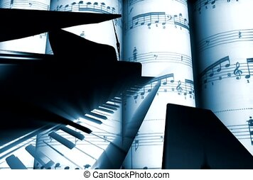piano, symphonie, son, grandiose