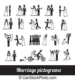 pictograms, mariage