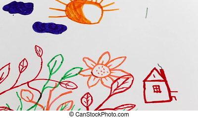 pictures., dessin, enfant