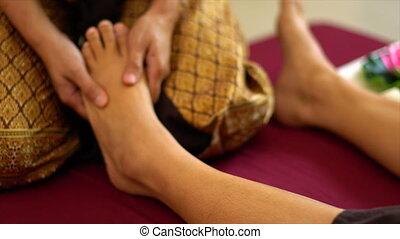 pied, thaï, masage