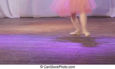 pieds, ballet, unique