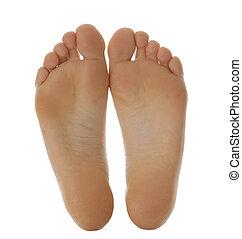 pieds, nu