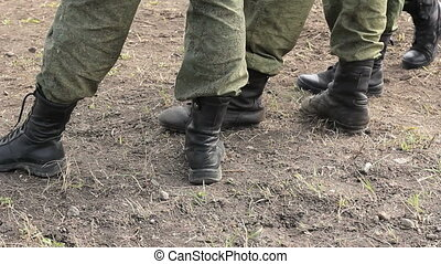 pieds, soldats, bottes