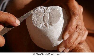 pierre, albâtre, découpage