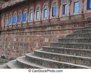 pierre, bhopal, moti, inde, perle, madhya, étapes, pradesh, masjid, mosquée