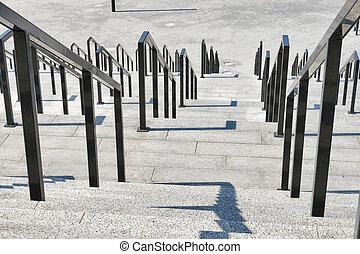 pierre, grille, étapes, fer