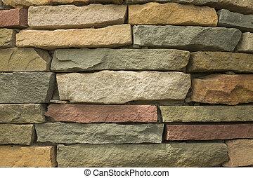 pierre, moderne, haut, texture, brique-mur, fond, fin