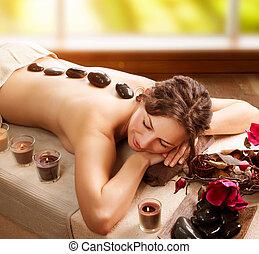 pierre, spa., salon, massage., jour station thermale
